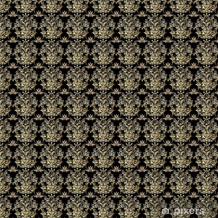 Barokowy wzór. Tapeta adamaszku. ozdobny kwiatowy tło z antykami dekoracyjne kwiaty 3d, liście i barokowe ozdoby. wektor tkanina wzór włókienniczych.
