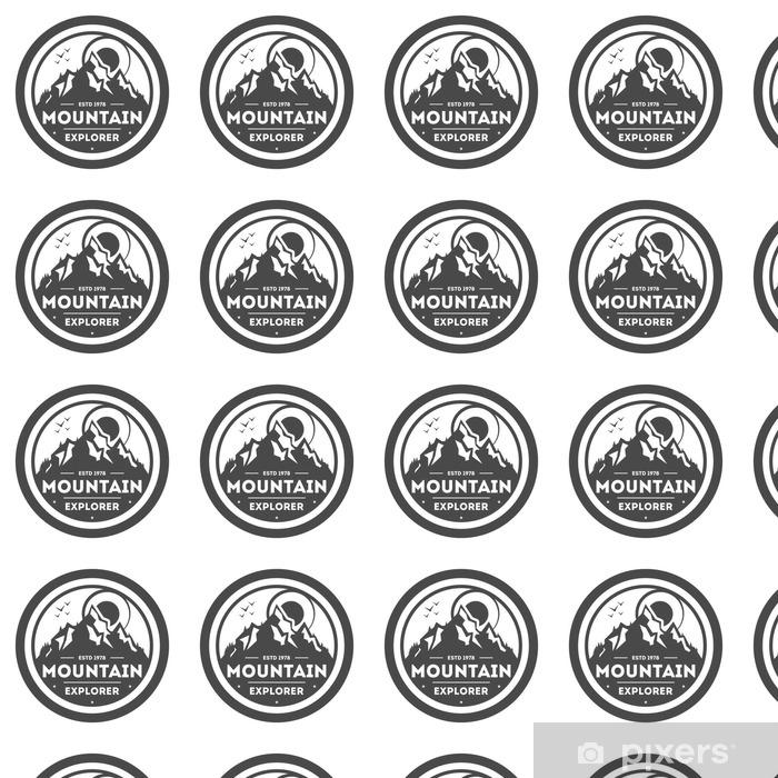 Tapeta na wymiar winylowa Mountain Explorer rocznika etykieta - Zasoby graficzne
