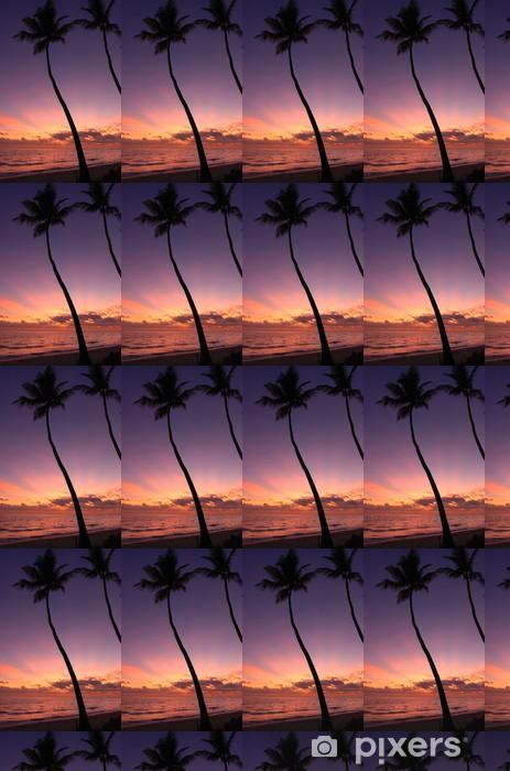 Papier peint vinyle sur mesure Caribbean sunset. - Vacances