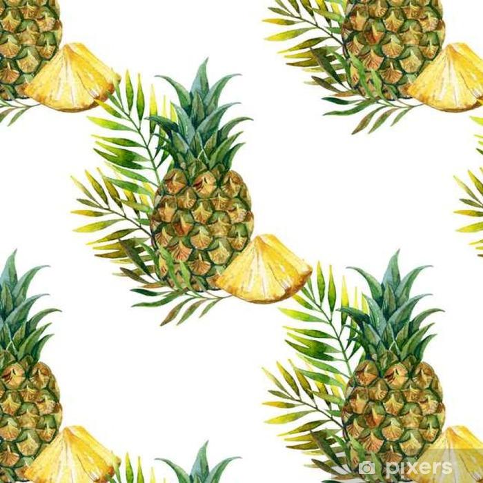 Vinylová Tapeta Akvarel ananas bezešvé vzor - Jídlo