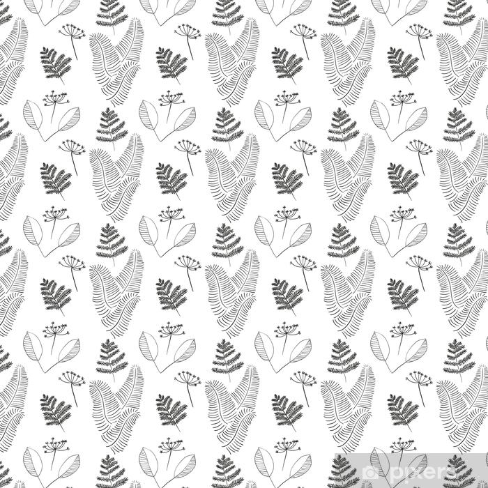 Tapeta na wymiar winylowa Skandynawski wektor kwiatowy wzór bez szwu. proste ręcznie rysowane elementy w stylu nordyckim. Zyskiwać taflowy skład dla twojego projektu. - Rośliny i kwiaty