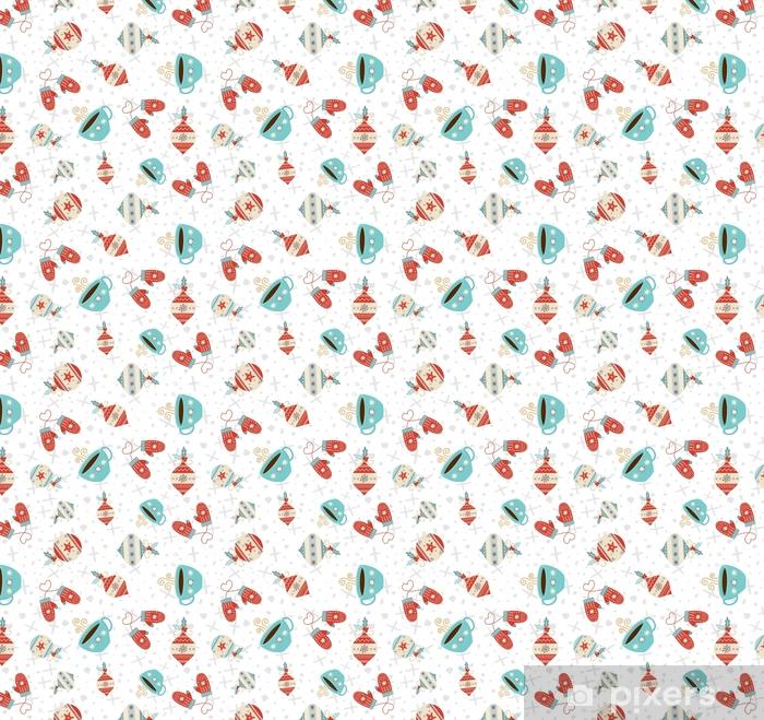 Tapeta na wymiar winylowa Wesołych Świąt zimowy wakacje wzór - Zasoby graficzne
