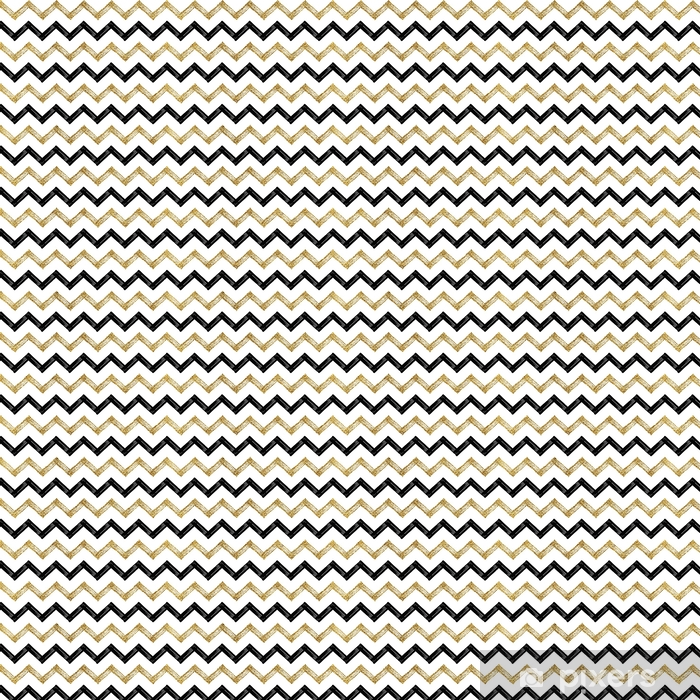 Seamless Pattern Of Black Gold Zigzag Chevron Golden And Black Zig Zag Striped Background Hand Painted Vector Design For Textile Wallpaper Web