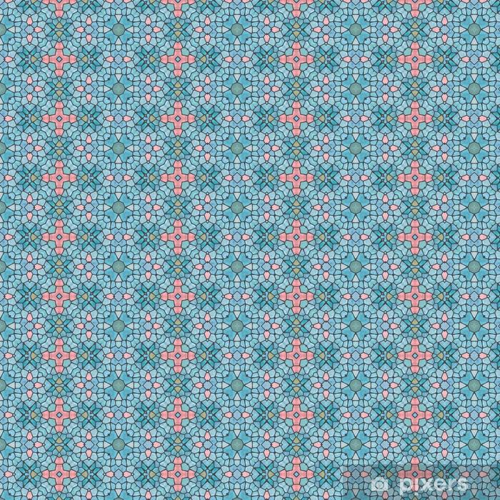 Carta da parati in vinile su misura Mosaico morbido blu brillante decorativo patten simmetrico - Risorse Grafiche