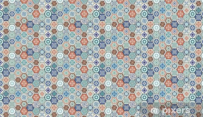 Behang Met Patroon : Behang vector oosterse naadloze patroon. realistische vintage
