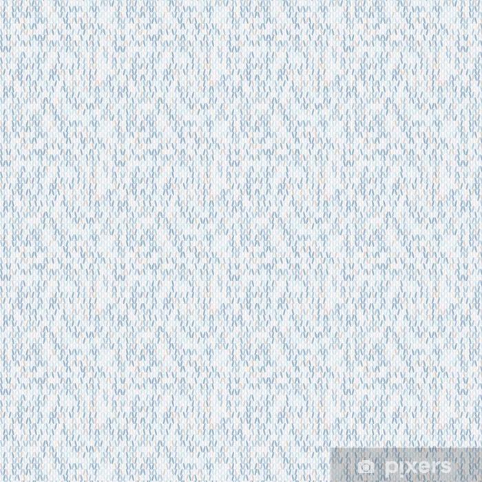 Carta da parati in vinile su misura Modello di maglia senza soluzione di continuità in stile in colori freddi. - Risorse Grafiche