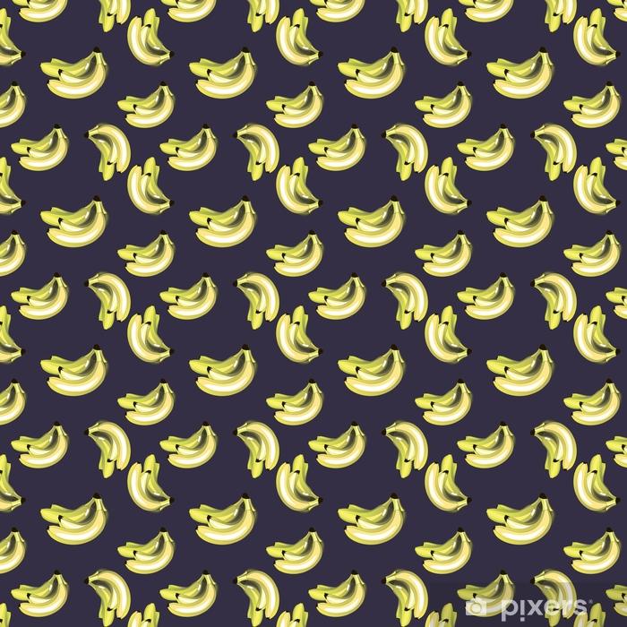 Vector background with bananas Self-adhesive custom-made wallpaper - Food
