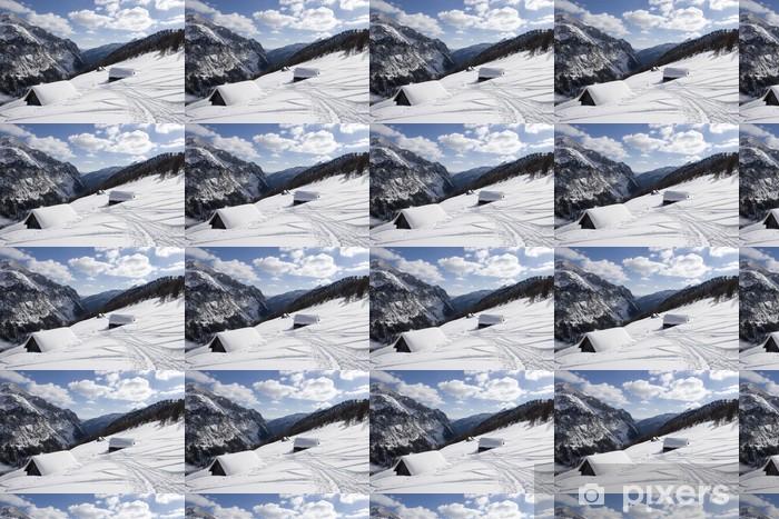 Vinyltapete nach Maß Schneespuren - Urlaub