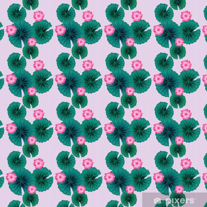 decorative water lilies Vinyl custom-made wallpaper - Flowers