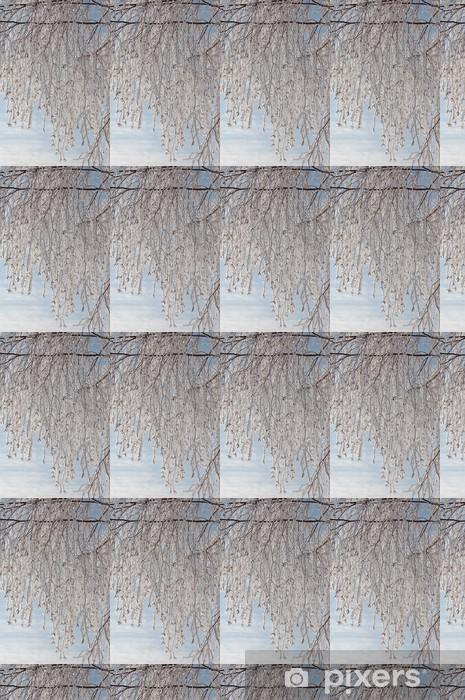 Papier peint vinyle sur mesure Bouleau dentelle - Arbres