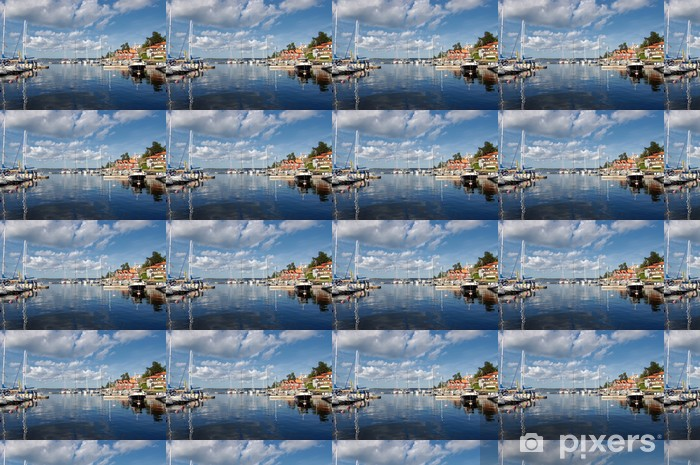 Papier peint vinyle sur mesure Idylle suédois - Îles