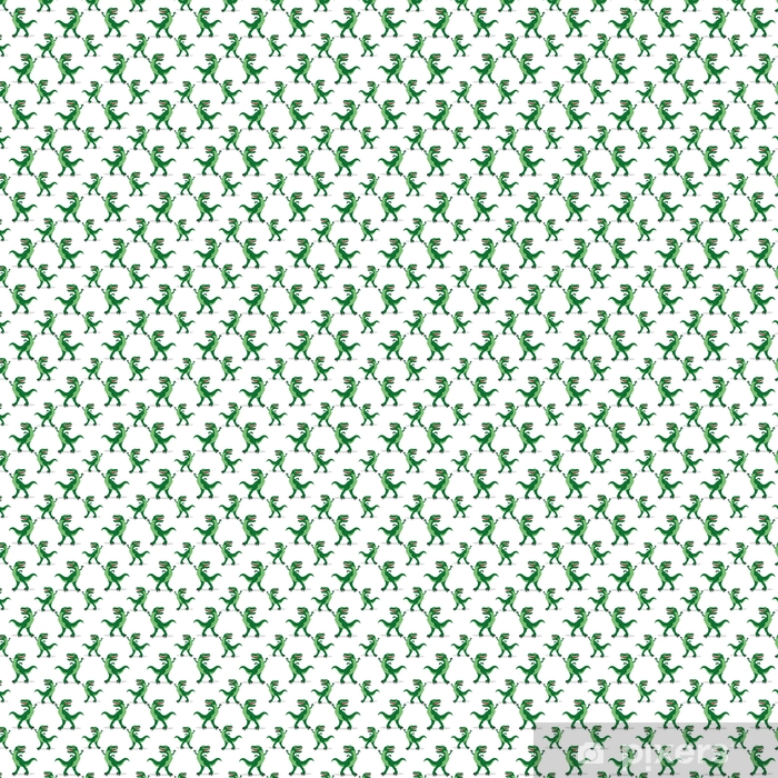 Dinosaurs on a white background. Vinyl custom-made wallpaper - Graphic Resources