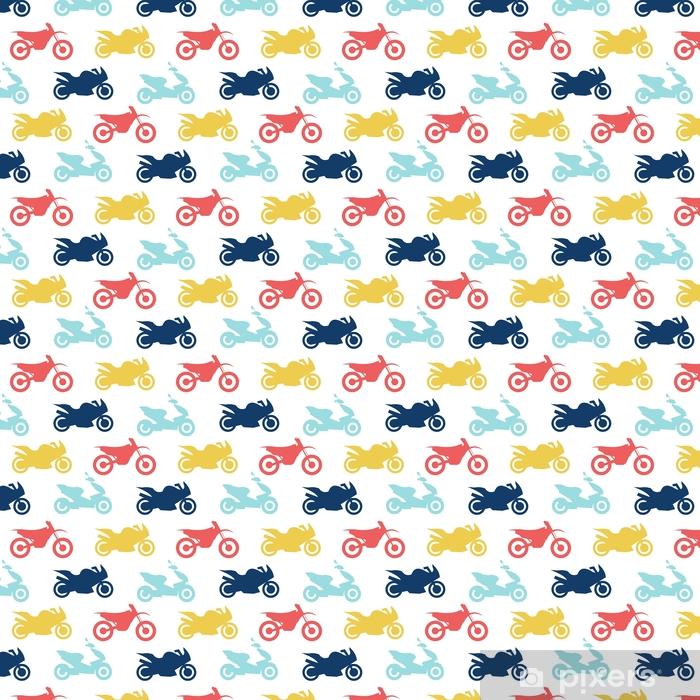Retro motorcycle seamless pattern Vinyl custom-made wallpaper - Transport