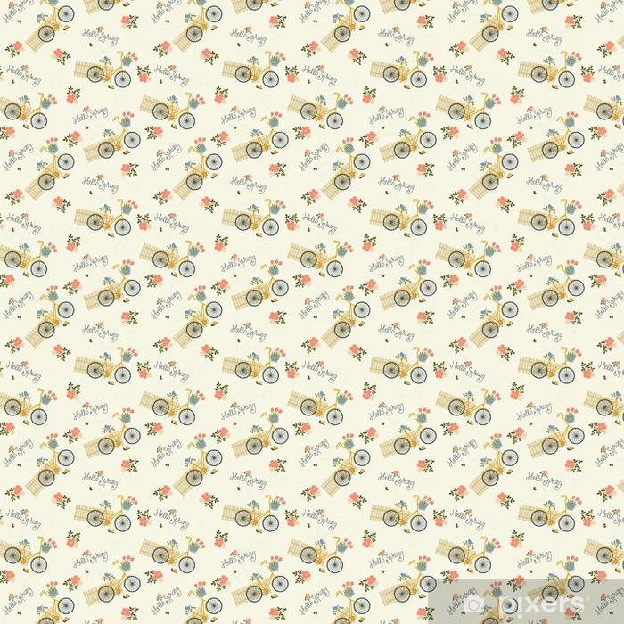 Zelfklevend behang, op maat gemaakt Lente bloemen naadloze patroon - Grafische Bronnen