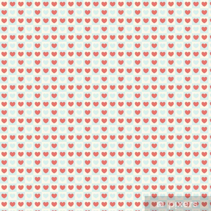 Tapeta na wymiar winylowa Wektor wzór na Walentynki. tło kolorowe serca w kwadraty. - Zasoby graficzne