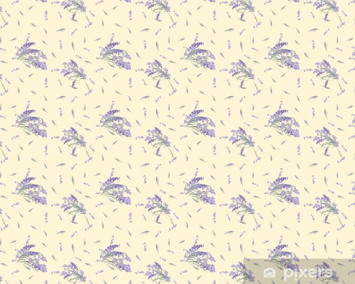 Papier peint vinyle sur mesure Fond vintage rétro floral lavande - Ressources graphiques