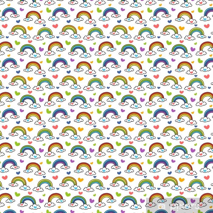 Doodle Rainbow Wallpaper Vinyl Custom Made