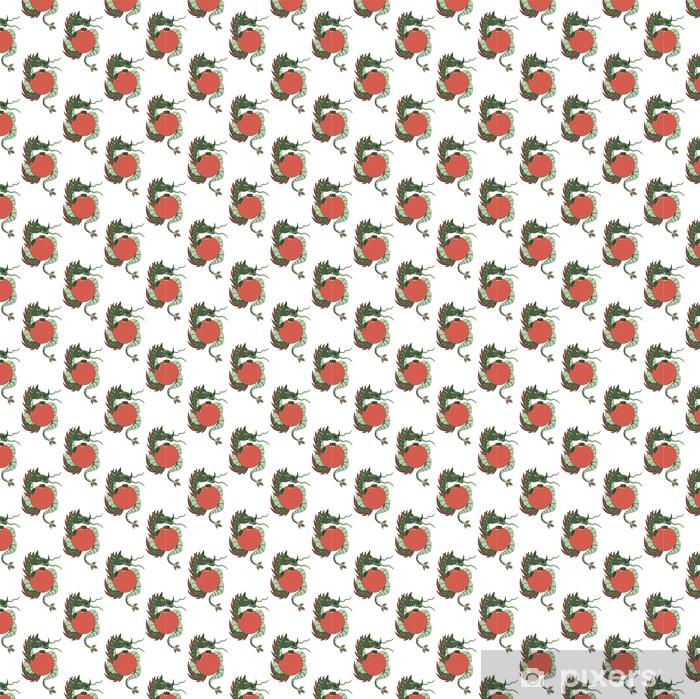 Tapeta na wymiar winylowa Szwu ze smokami na białym tle - Zwierzęta