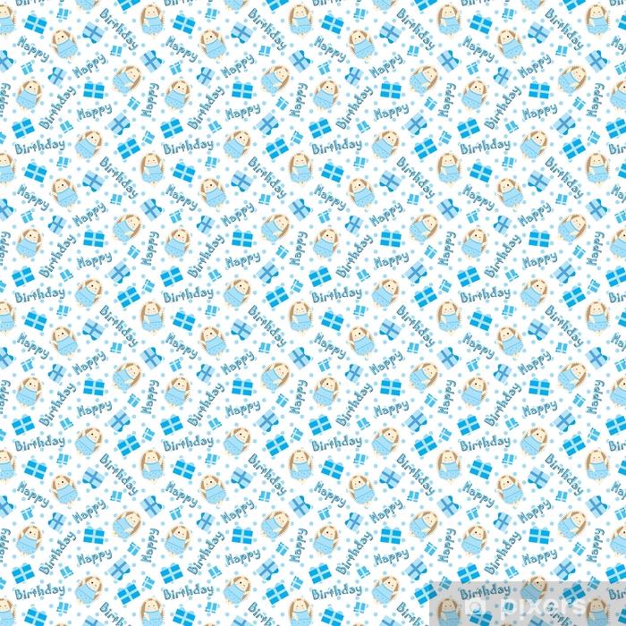 Papel pintado patr n sin fisuras de cumplea os con erizo for Papel tapiz de patron para el pasillo