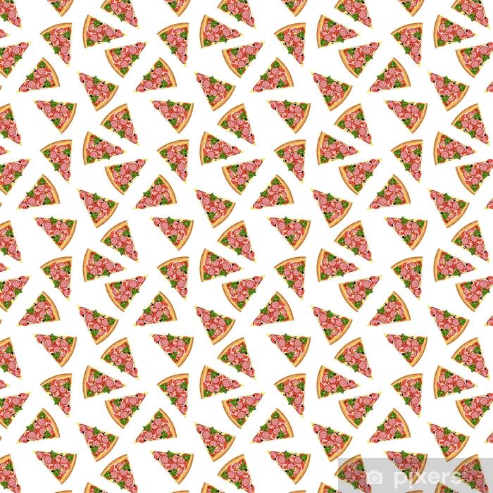 Bezszwowe tło z kawałkami pysznej pizzy.