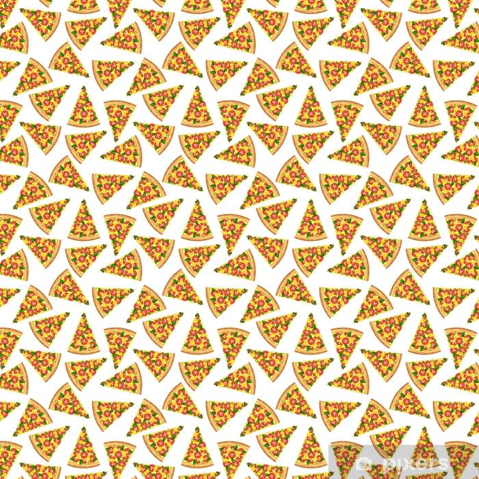 Papel pintado estándar a medida Fondo transparente de rebanadas de sabrosa pizza. - Recursos gráficos