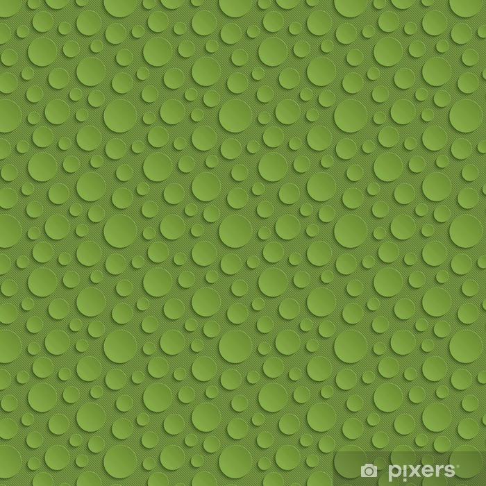 Greenery Circles Seamless Pattern. Vinyl custom-made wallpaper - Graphic Resources
