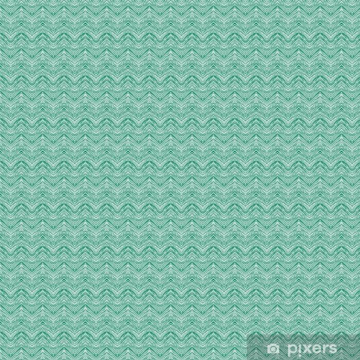 Papel pintado estándar a medida Patrón de zigzag de vector dibujado a mano verde esmeralda - Recursos gráficos