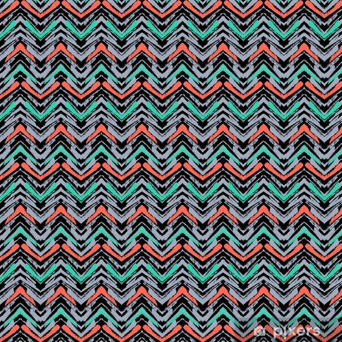 Spesialtilpasset vinyltapet Håndtegnet mønster med børstet zigzag linje. - Grafiske Ressurser