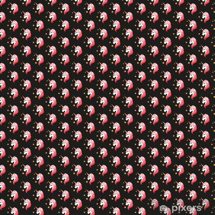 Zelfklevend behang, op maat gemaakt Eenhoorn. naadloze vectorillustratie - Grafische Bronnen