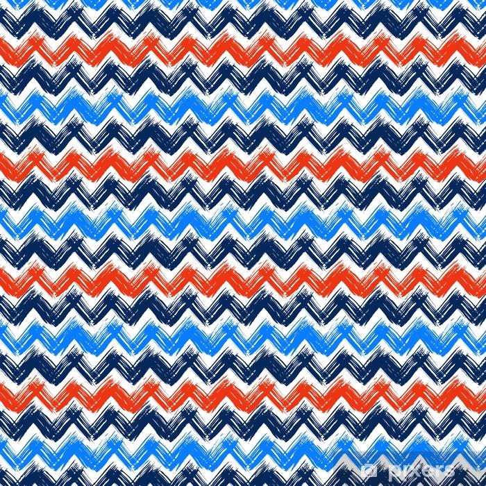 Vinyltapete nach Maß Chevron-Muster, handbemalt mit Pinselstrichen - Grafische Elemente