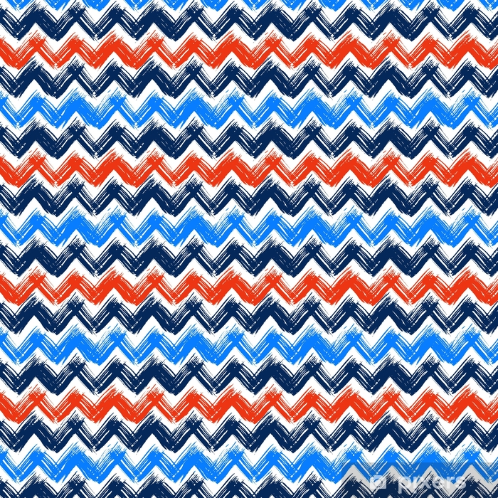 Spesialtilpasset vinyltapet Chevron mønster hånd malt med penselstrøk - Grafiske Ressurser