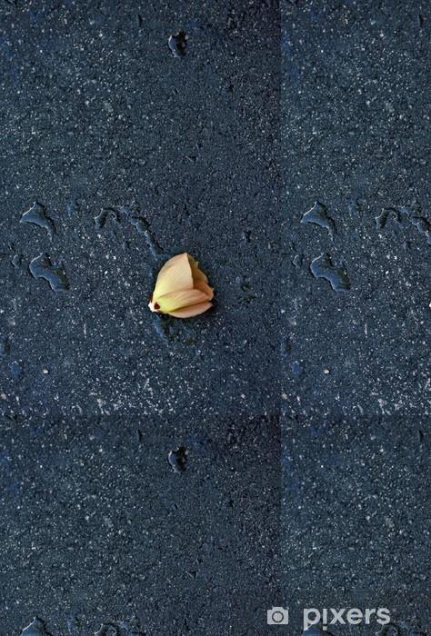 Flower on the street asphalt after rain Vinyl Wallpaper - Other Feelings