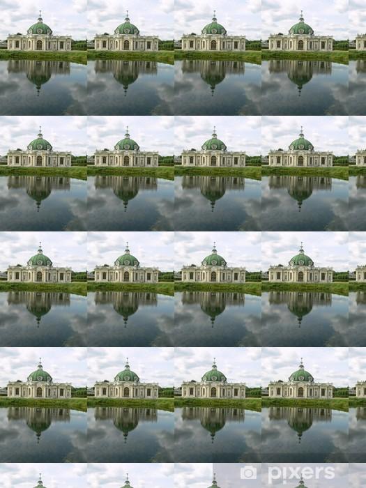 Papier peint vinyle sur mesure Réflection dans l'étang - Villes d'Asie