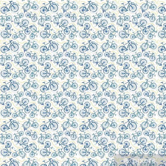 Tapeta na wymiar winylowa Abstrakcyjny wzór z rowerami. spacery rowerowe. Jazda rowerem. wzór trendu mody na tkaninie. drukuj z rowerami. - Sport