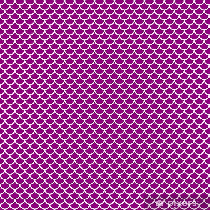 Vinyl behang, op maat gemaakt Violet naadloos patroon - Grafische Bronnen