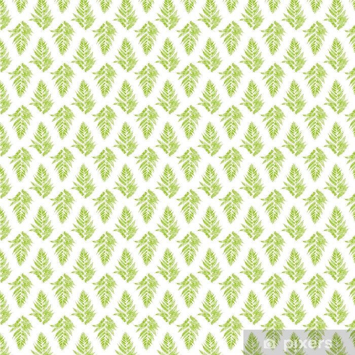 Papier peint vinyle sur mesure Seamless avec fougère feuilles - Plantes et fleurs