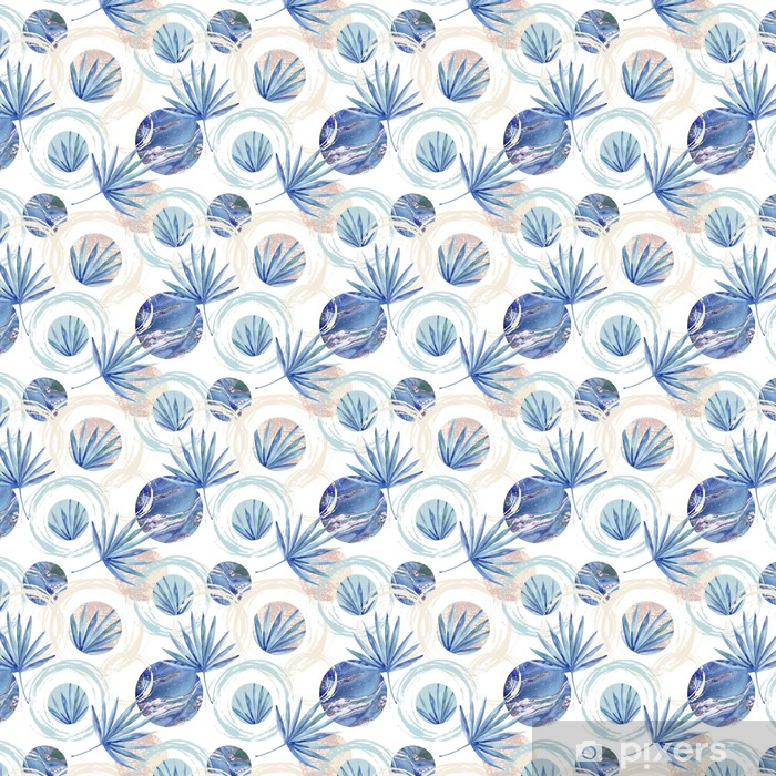 Papel pintado estándar a medida Resumen de verano sin fisuras patrón geométrico - Recursos gráficos