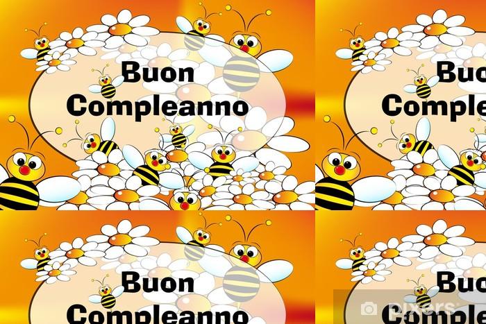 Papier Peint A Motifs Carte De Joyeux Anniversaire Italien