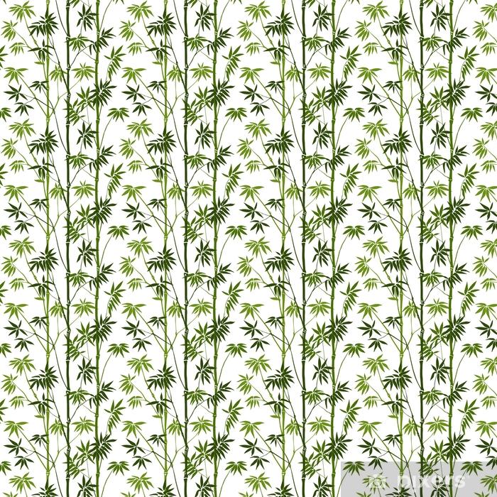 Zelfklevend behang, op maat gemaakt Bamboe naadloos patroon - Bloemen en Planten
