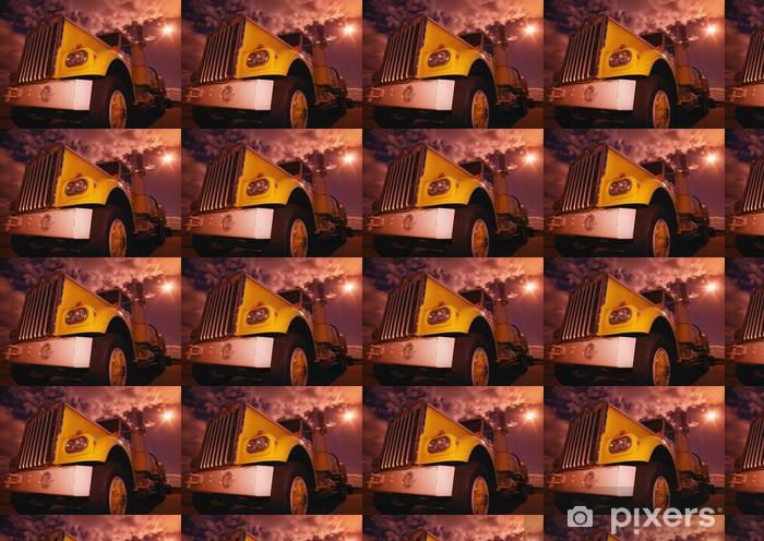 Vinyltapete nach Maß Nahaufnahme eines gelben halb -