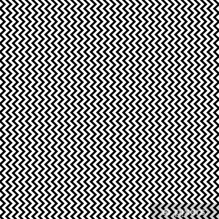 Papel pintado estándar a medida Vertical zigzag chevron sin patrón de fondo en blanco y negro. diseño retro vintage vector. - Recursos gráficos