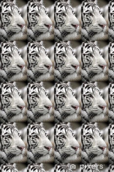 Papier peint vinyle sur mesure White Tiger Portrait Close Up - Thèmes