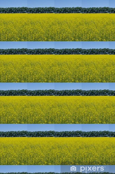 Papier peint vinyle sur mesure Champ de canola - Agriculture