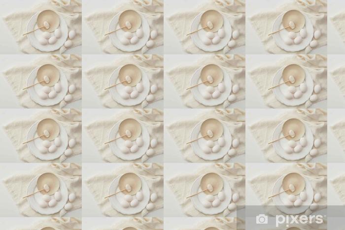 Papier peint vinyle sur mesure La farine avec l'oeuf - Nourriture
