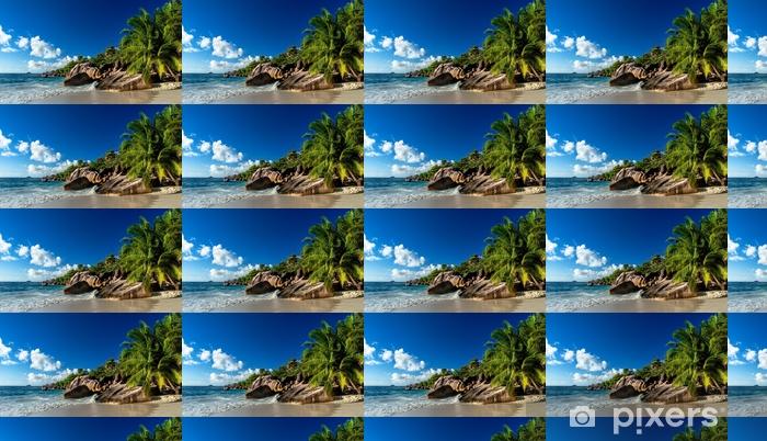 Strand auf den Seychellen Vinyl custom-made wallpaper - Landscapes