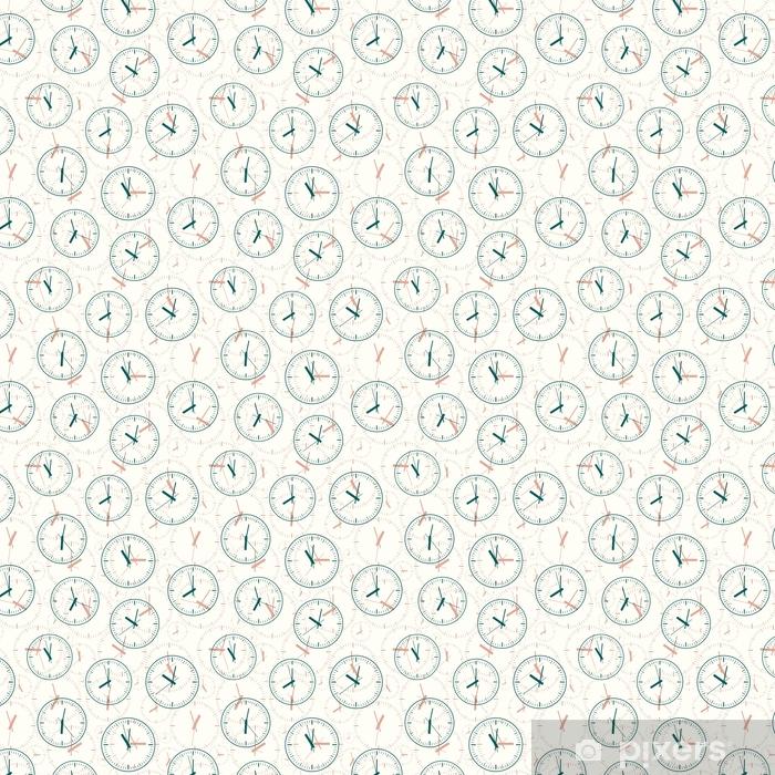 Papel pintado estándar a medida Patrón sin costuras compuesto de imágenes horas. ilustración vectorial - Recursos gráficos