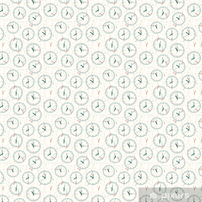 Seamless pattern composed of images hours. Vector illustration. Vinyl custom-made wallpaper - Graphic Resources
