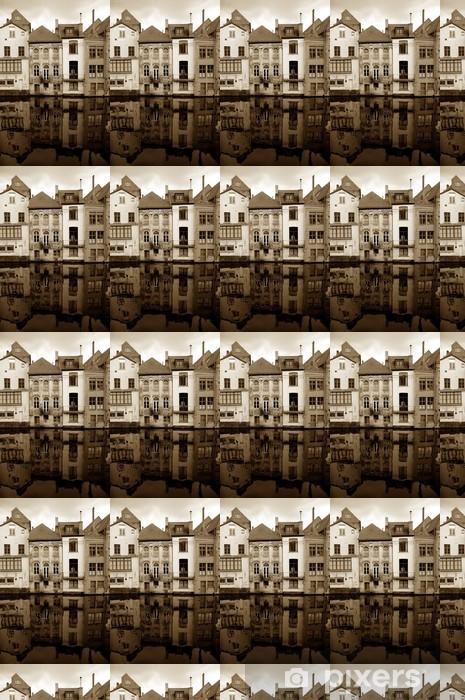 Vinylová tapeta na míru Staré domy. belgickém Gentu - Město