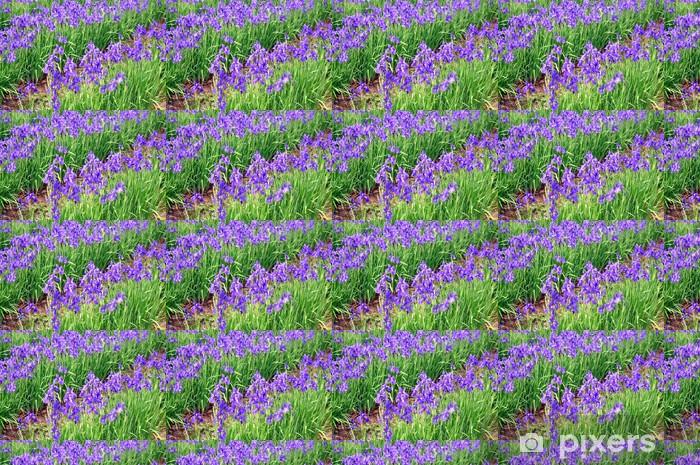 Papier peint vinyle sur mesure Fleurs bleu iris - Fleurs