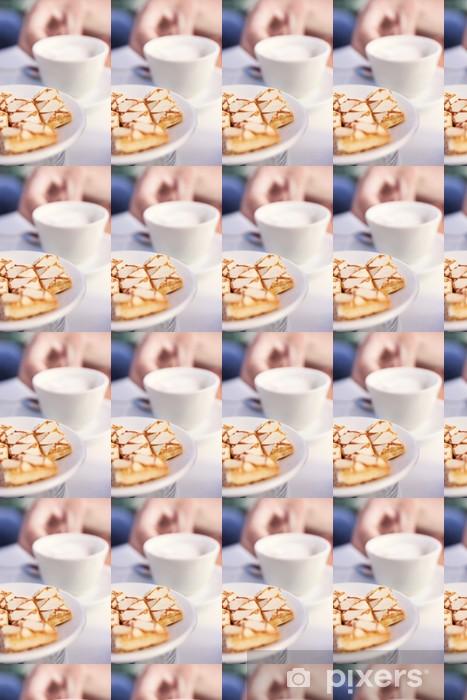Carta da parati in vinile su misura Caffè e torta - Bevande calde